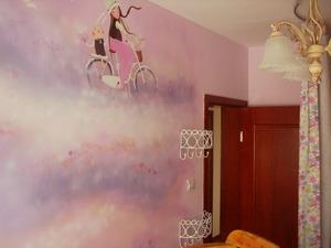 温馨梦幻房间壁画